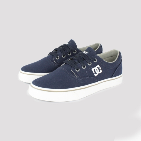 Tênis DC Shoes New Flash 2TX - Royal Blue/ Grey