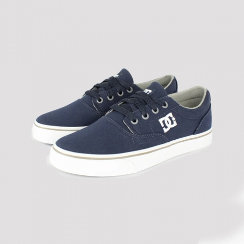 Tênis DC Shoes New Flash 2TX - Royal Blue/ Grey
