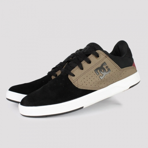 Tênis DC Shoes Plaza TC - Preto/ Marrom/ Branco
