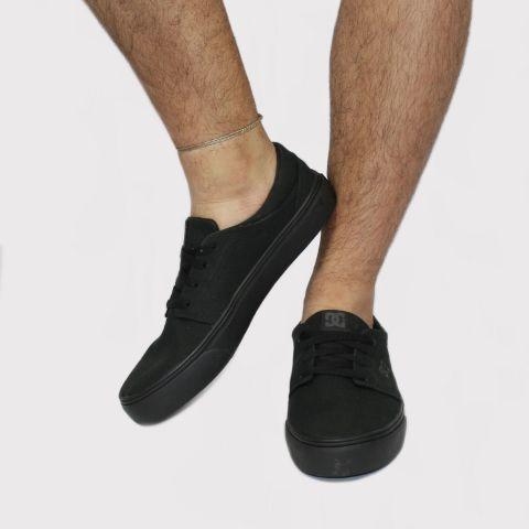 Tênis DC Shoes Trase Tx - Black/Preto