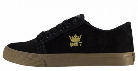 Tênis DR7 Street King Couro Nobuck - Preto/Caramelo