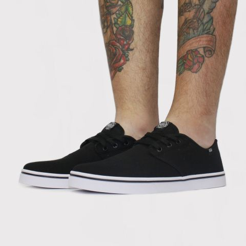 Tênis Hocks Del Mar Originals Canvas - Preto/Branco