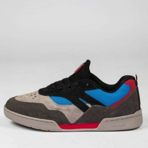 Tênis Hocks Vita Grafite/Red/Ciano (Vermelho/Azul)