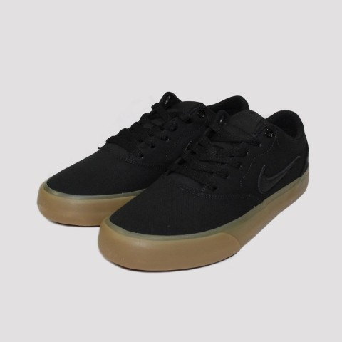 Tênis Nike SB Charge Canvas - Preto/Natural
