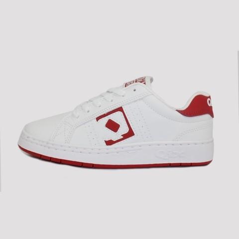 Tênis Qix Combat Retrô - Branco/Vermelho