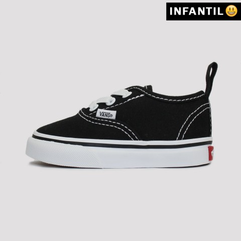 Tênis Vans Authentic Elastic Kids - Preto/Branco