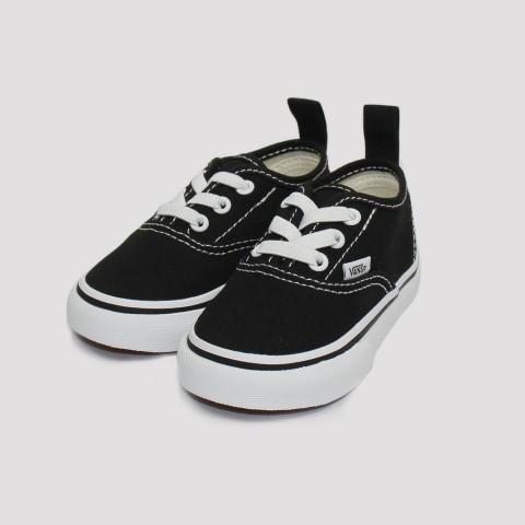 Tênis Vans Authentic Elastic Kids Infantil-Preto/ Branco