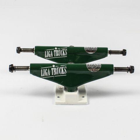 Truck Liga Tradicional LF Alto 139mm Verde/Branco