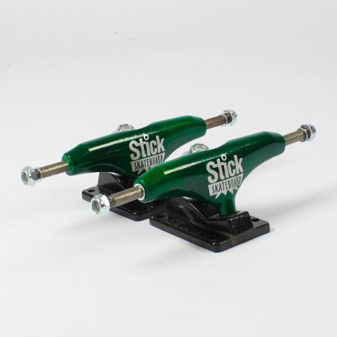 Truck Stick 129mm Preto/Verde Verniz