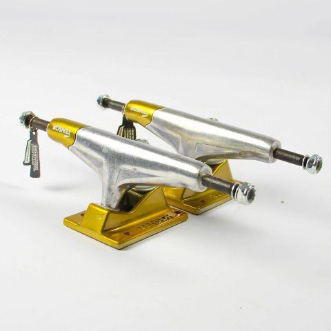 Truck Tensor Aluminio 139mm Preto/dourado