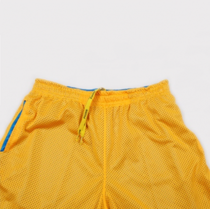 Bermuda Pixa in Dupla Face Amarela/Azul
