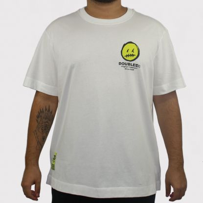 Camiseta Double G Over Size - Off White/Verde