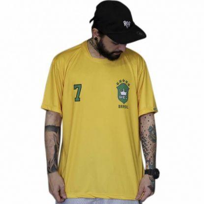 Camiseta DR7 Street Brasil - Amarela