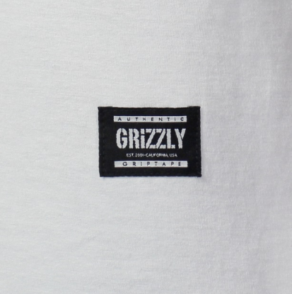 Camiseta Grizzly Lowercase Logo - Branco/Preto