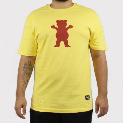Camiseta Grizzly OG Bear Logo - Amarelo/Vermelho