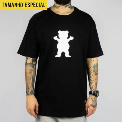 Camiseta Grizzly OG Bear Logo Preta  (Tamanho Especial)