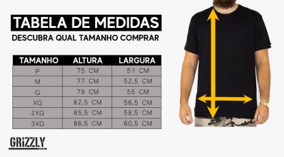 Camiseta Grizzly Stamped - Bordô/Amarelo