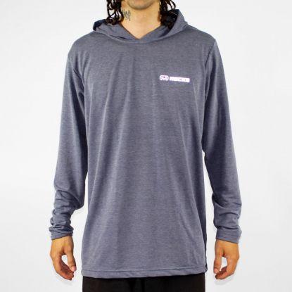 Camiseta Hocks Manga Longa Lash Cinza/Azul Marinho