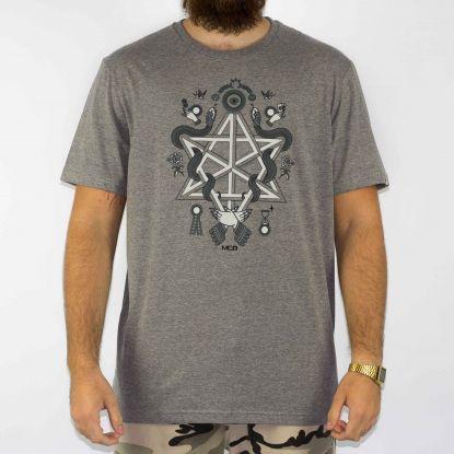 Camiseta MCD Regular Magic - Cinza/Branca