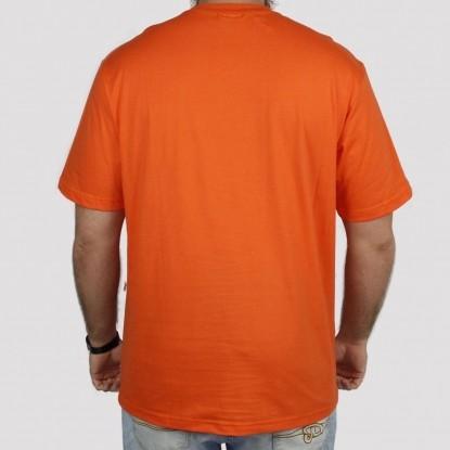 Camiseta Pixa In Caligrafia (Tamanho Extra) - Laranja