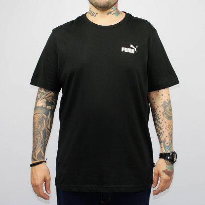 Camiseta Puma Essentials Small Logo Preto/Branco