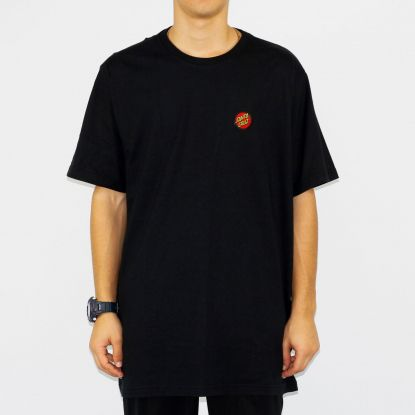 Camiseta Santa Cruz Classic Dot Bottom - Preta