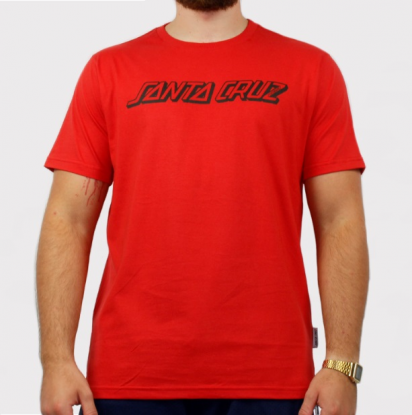 Camiseta Santa Cruz Classic Strip - Vermelho/Preto