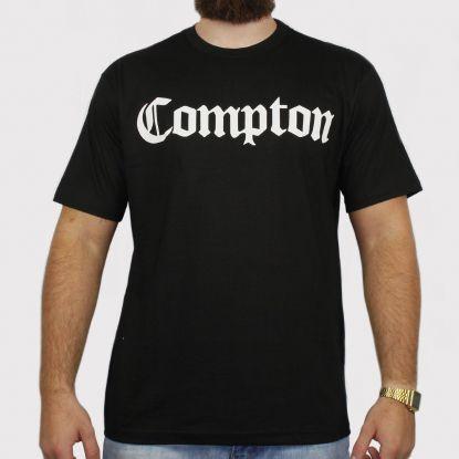 Camiseta XXL Comptom - Preta