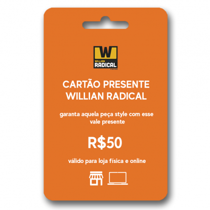 Cartão presente WR R$50