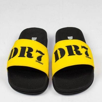 Chinelo DR7  Street Slide - Amarelo Mostarda/Preto