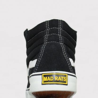 Tênis Mad Rats Hi Top - Preto e Branco
