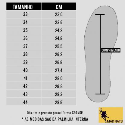 Tênis Mad Rats Old School - Couro Camurça/Lona Preto Total
