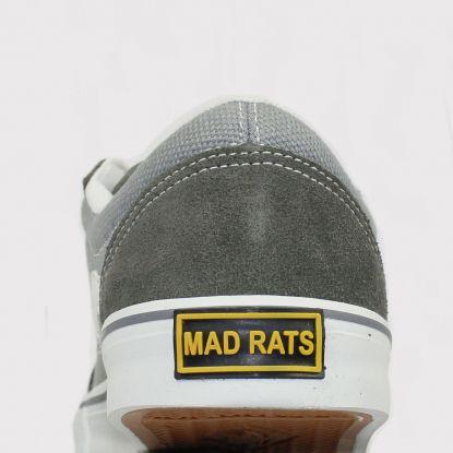Tênis Mad Rats Old School - Lona Cinza Grafite/Branco