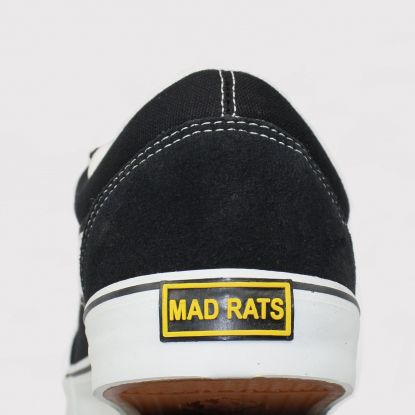 Tênis Mad Rats Old School - Lona Preto/Branco