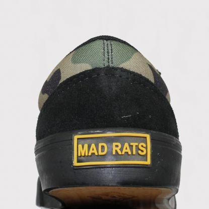 Tênis Mad Rats Old School - Preto/Camuflado Verde