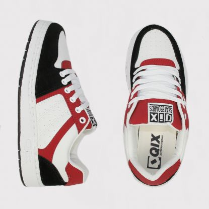 Tênis Qix 80s - Branco/Vermelho/Preto