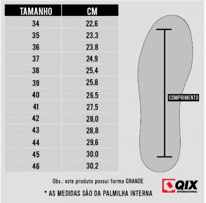 Tênis Qix 80S - Chumbo/Branco/Preto