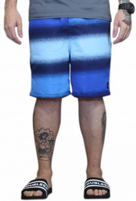 Bermuda Pânico Azul Mesclado