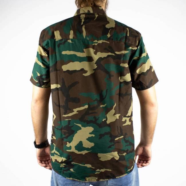Camisa DC Shoes Camuflada Verde