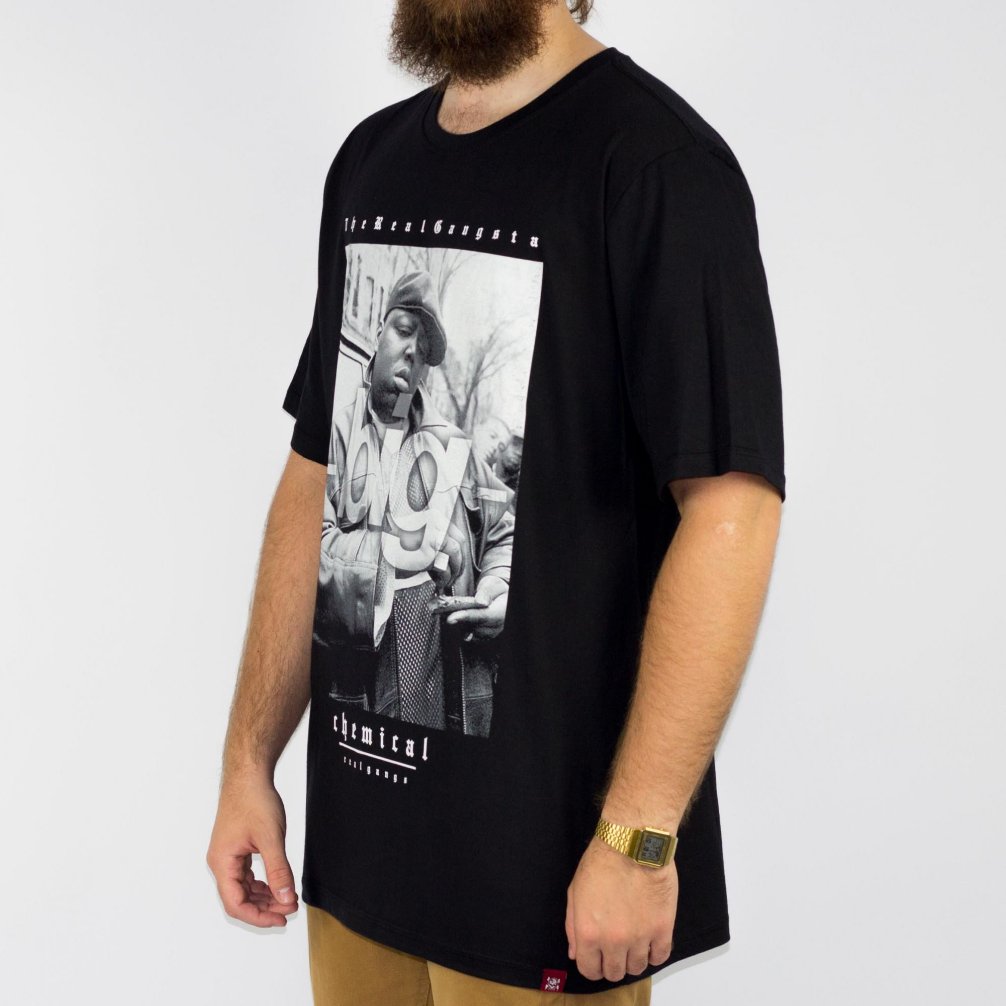 Camiseta Chemical Notorius Big Preta (Tamanho Especial)