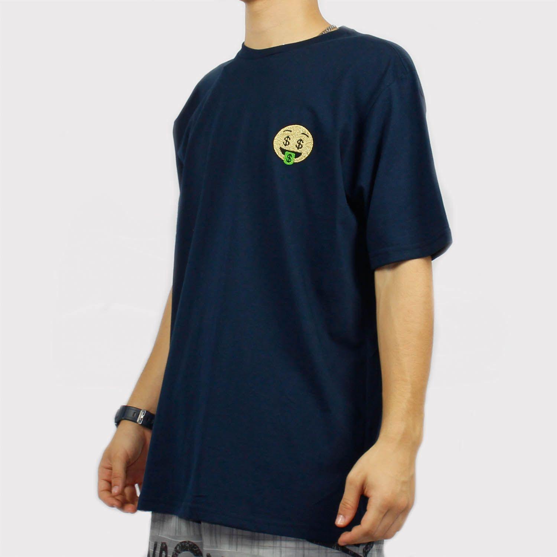 Camiseta Chronic Emoji Money Azul Marinho