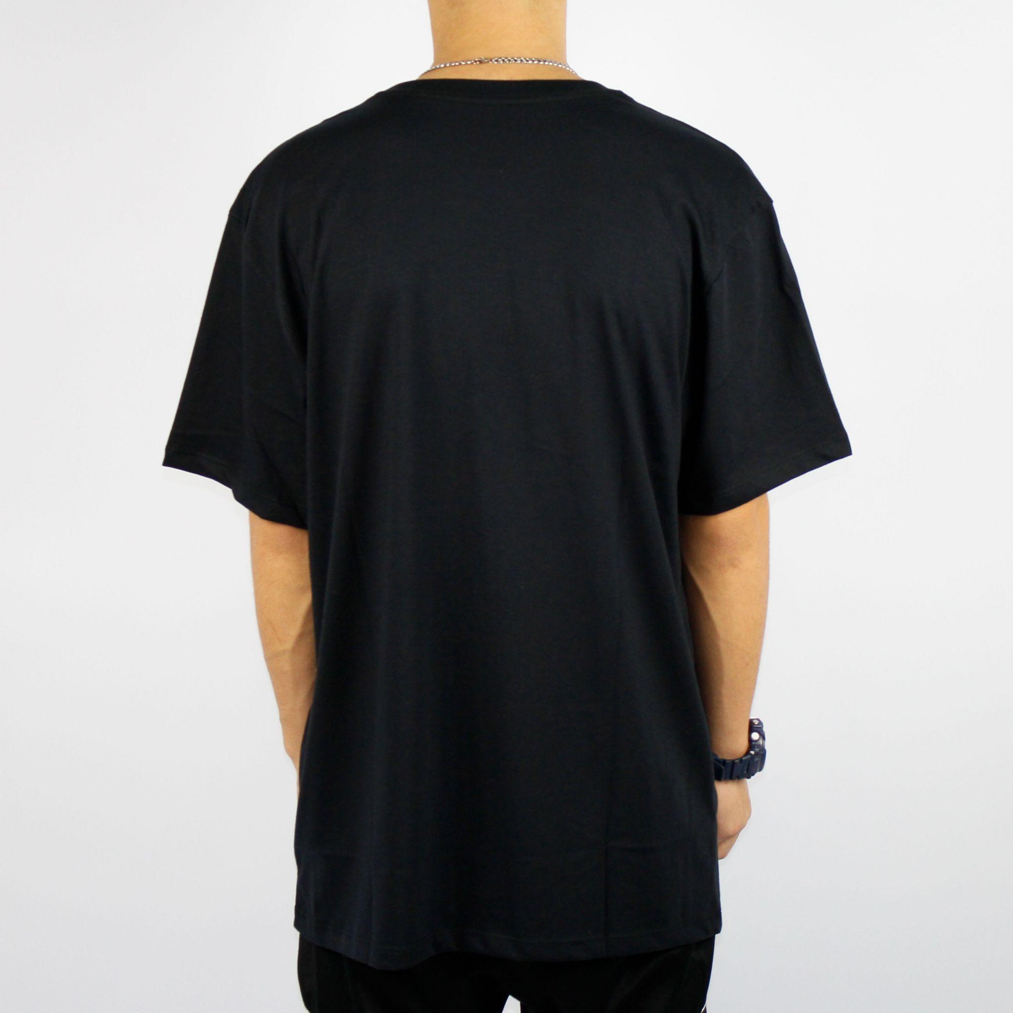 Camiseta Dc Shoes Pacting Basica Preta/Azul/Roxa
