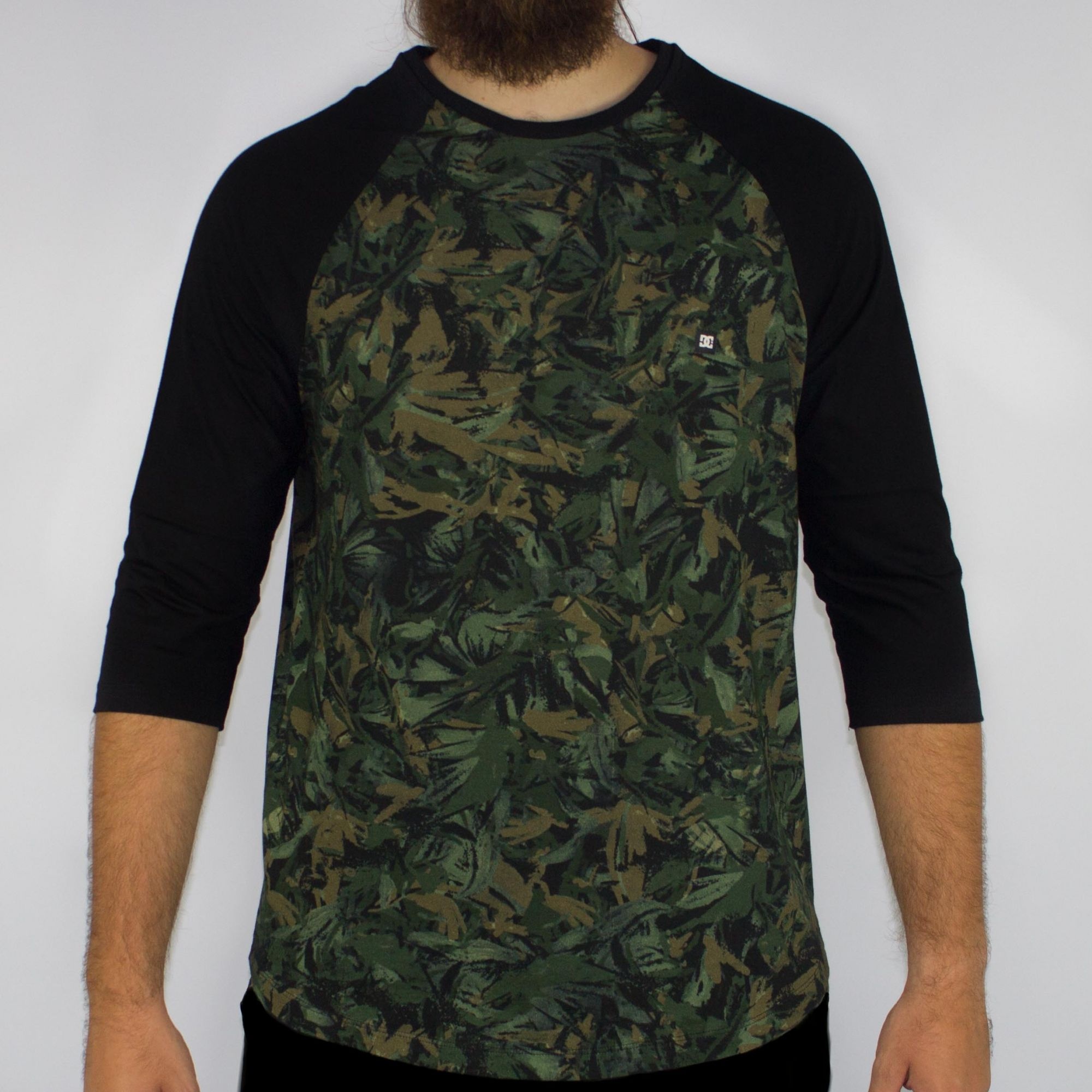 Camiseta DC Shoes 3/4 M/L Camuflada