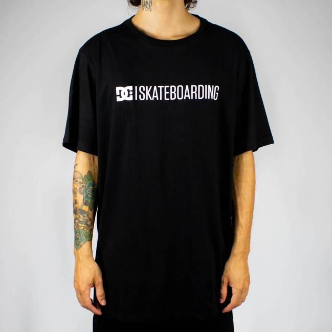 Camiseta DC Shoes Bas Slim Skateboarding Preta
