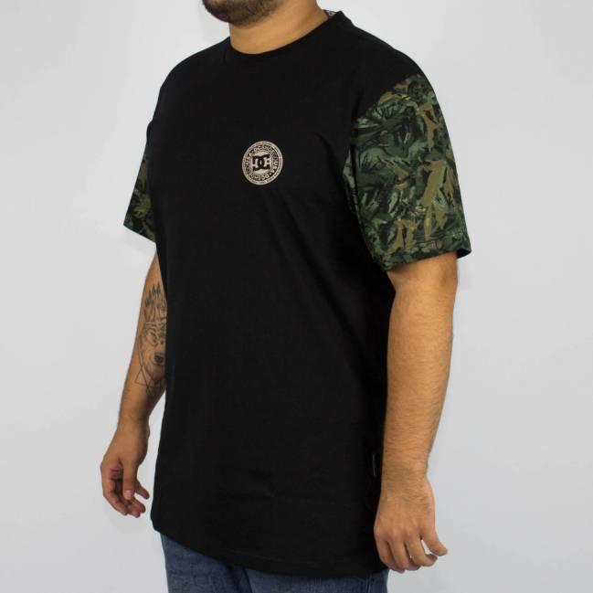 Camiseta DC Shoes Esp Camo Circle Preta