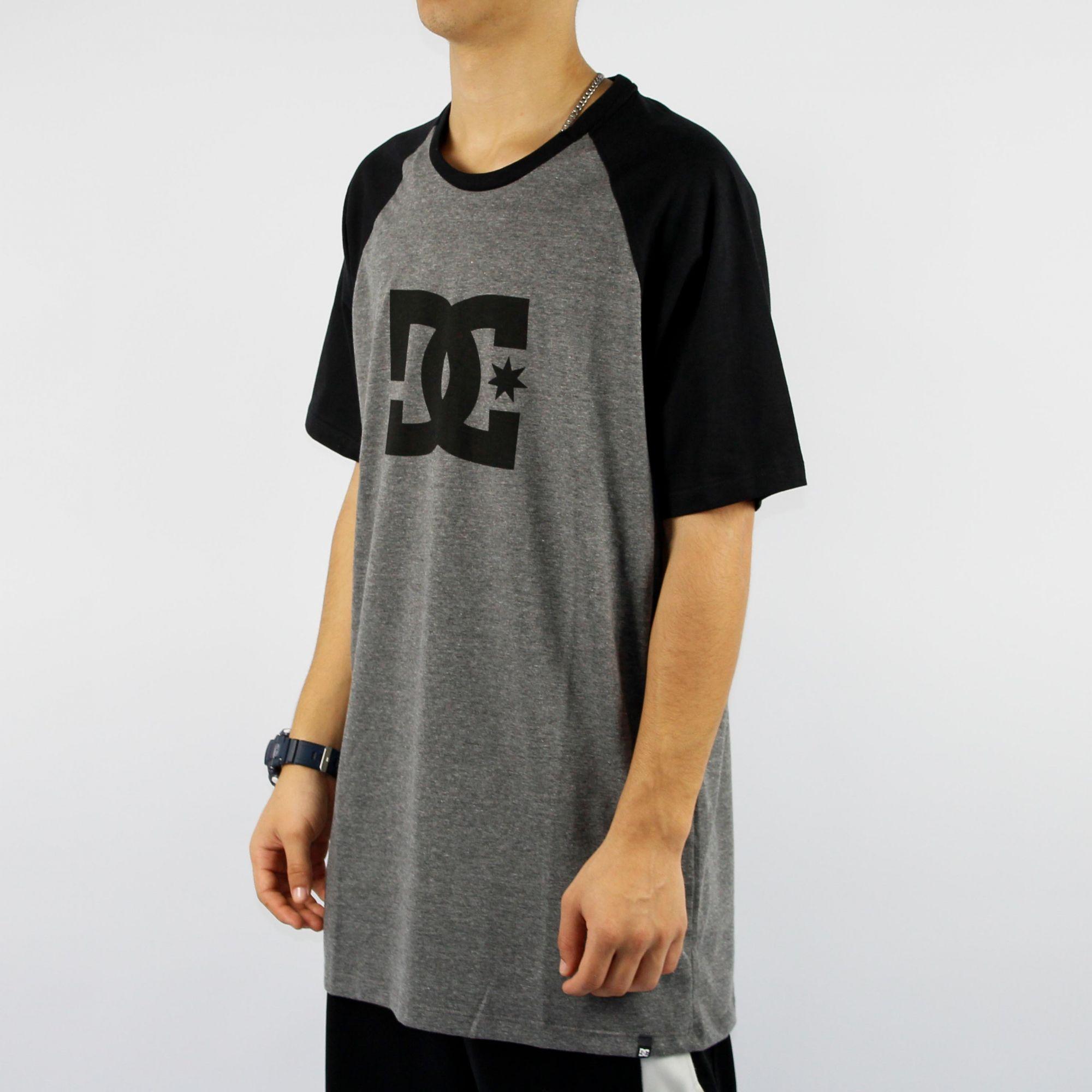 Camiseta DC Shoes Esp Star Raglan - Cinza/Preta