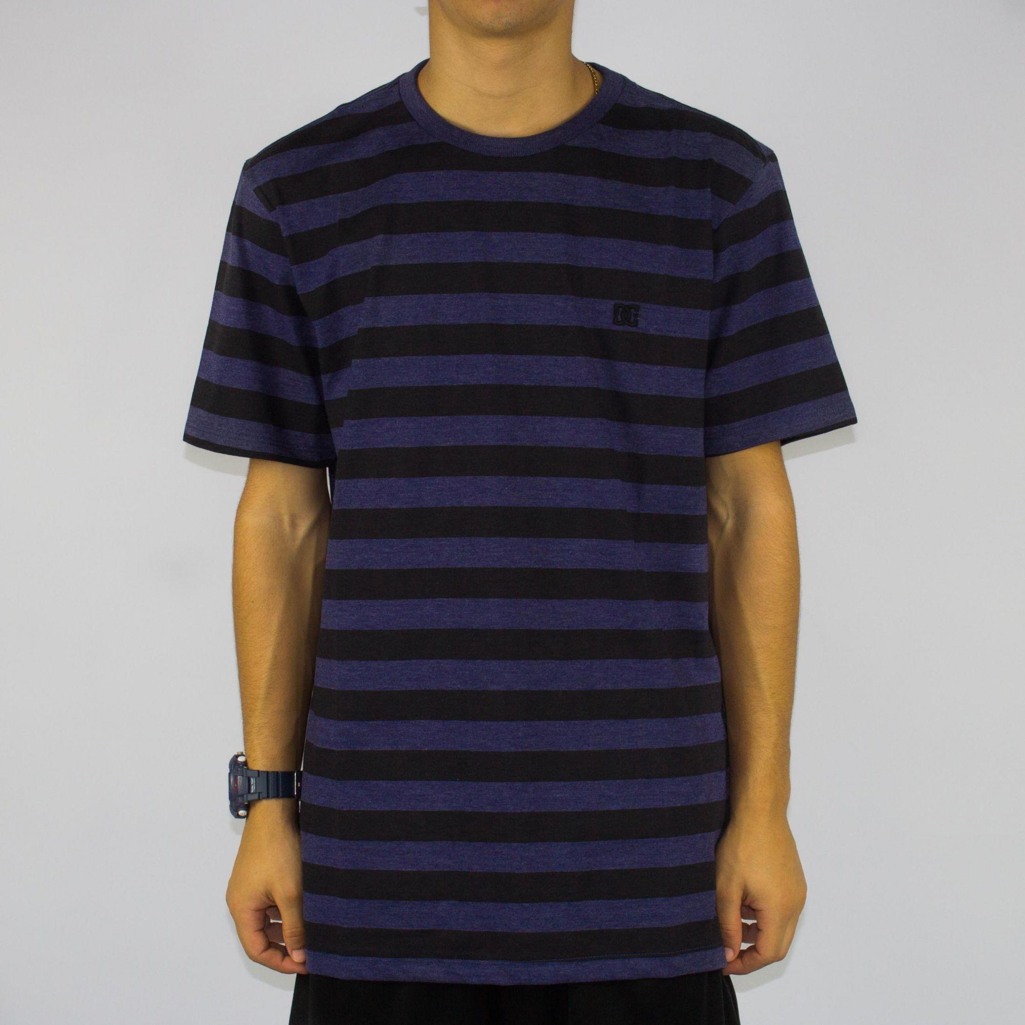 Camiseta DC Shoes Slim Striped Nautical Azul