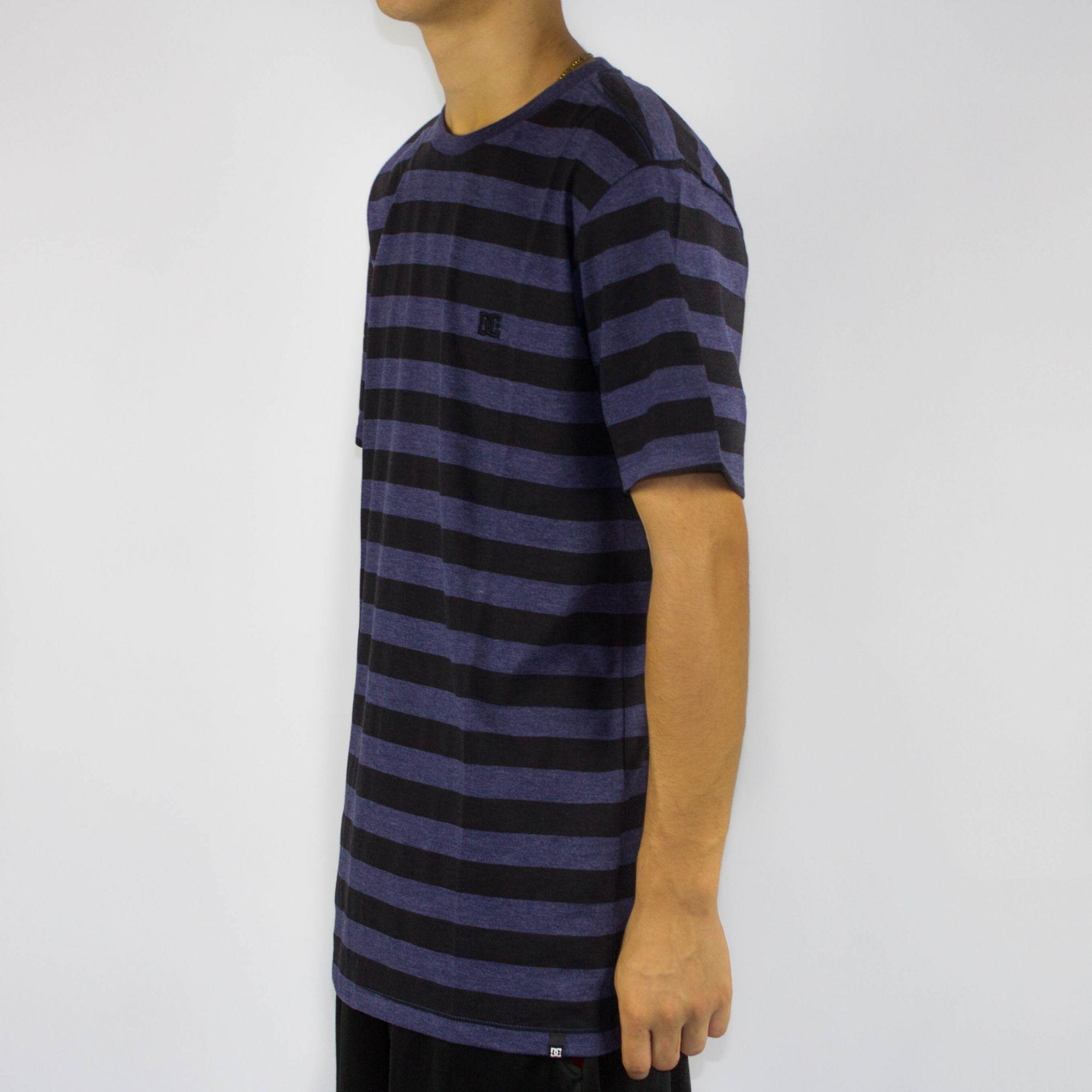 Camiseta DC Shoes Slim Striped Nautical - Azul