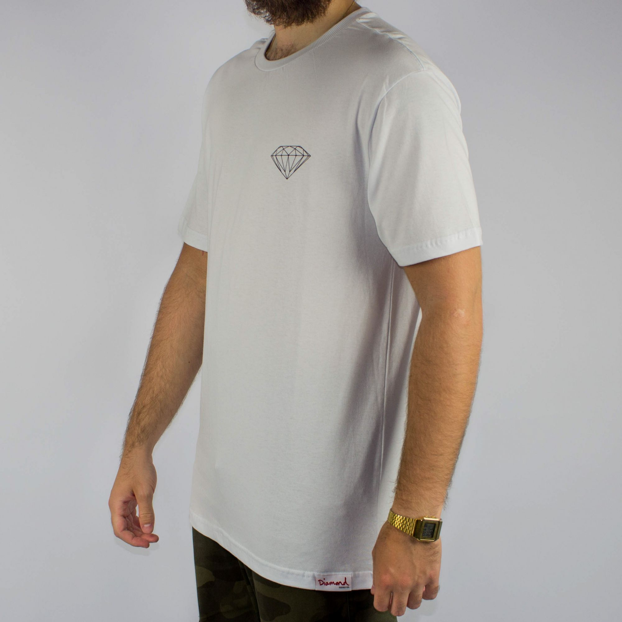 Camiseta Diamond Brilliant Logo Branca