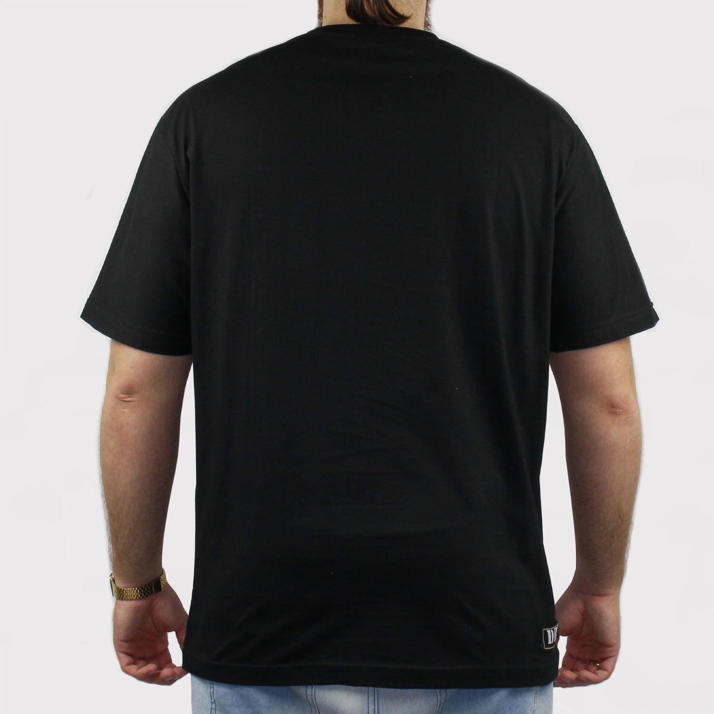 Camiseta DR7 Street Hidrante - Preto/Amarelo/Branco